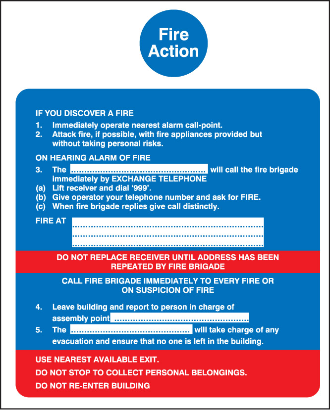 Fire Action Call Point Sign Plastic Signs Nexus