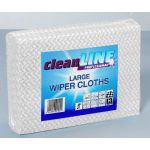 Wiper Cloth Large WHITE 51x36, pack of 50 (Cleanline Range)