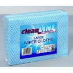Wiper Cloth Large BLUE 51x36, pack of 50 (Cleanline Range)