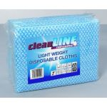 Light Weight Cloths BLUE 51x36, pack of 100 (Cleanline Range)