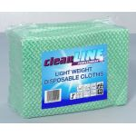 Light Weight Cloths GREEN 51x36, pack of 100 (Cleanline Range)