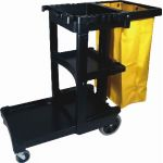 Rubbermaid Janitor Cart With Vinyl Bag