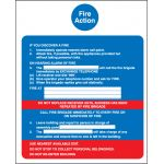 Fire Action/Call Point (Without Lift) Sign - Rigid Plastic