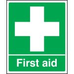 First Aid Sign - Rigid Plasic