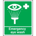 Emergency Eye Wash Sign - Rigid Plastic