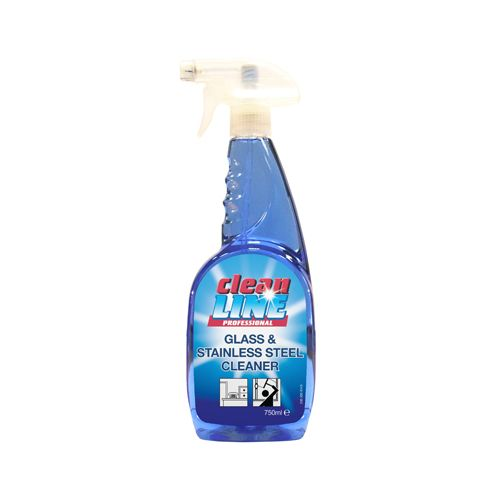 Cleanline Glass & Stainless Steel Cleaner, case of 6