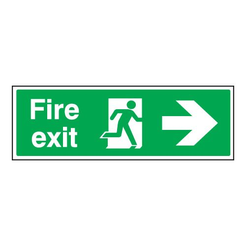 Fire Exit Right Sign - Adhesive