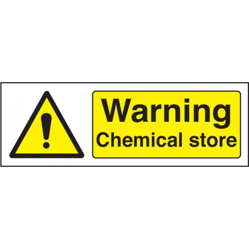 Warning Chemical Store Rigid Plastic Sign
