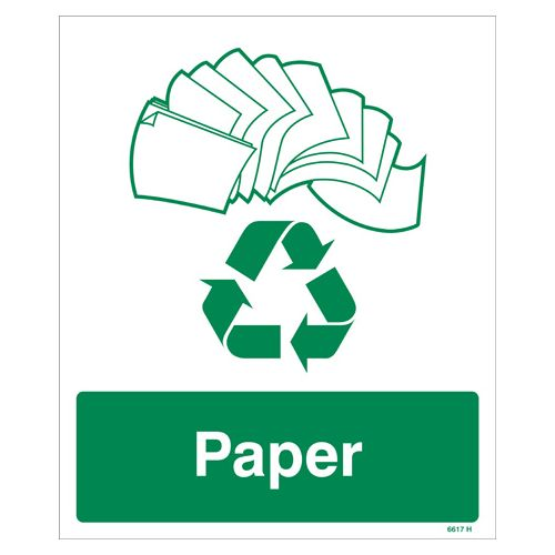 Paper Recycling Sign Rigid Plastic Sign Nexus Cleaning