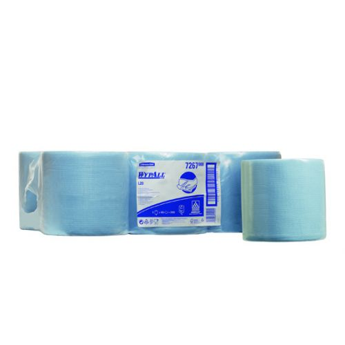 WypAll L20 Wipers Centrefeed Roll Blue 38cm x 18.5cm